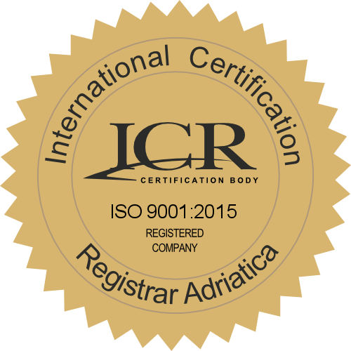 Certifikat ISO norme 9001:2015